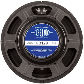"Eminence Legend GB128 12"" Guitar Speaker 8 Ohm"