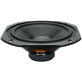 "10"" Square Frame Paper Cone Woofer Black"