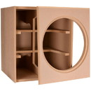 Denovo Audio Knock-Down MDF 4.0 cu. ft. Subwoofer Cabinet for Dayton Audio 18