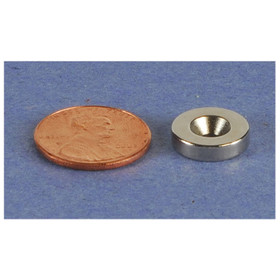 "Neodymium Countersunk Ring Magnet 1/2"" x 1/8"""