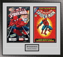 Perfect Cases Double Comic Book Frame with Engraving in Classic Moulding
