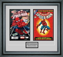 Perfect Cases Double Comic Book Frame with Engraving in Premium Moulding