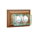 Perfect Cases Wall Mounted Double Baseball Display Case