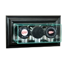 Perfect Cases Wall Mounted Triple Puck Display Case
