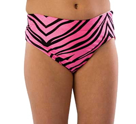 Pizzazz Body Basics Animal Print Cheer Briefs, Adult