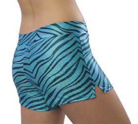 Pizzazz Zebra Glitter Shorts, Adult