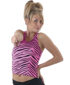 Pizzazz Animal Print Racer Back Top, Adult