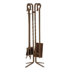"Dagan Industries 5831RU 5 Piece 28"" Rust Wrought Iron Tool Set, Price/Set"