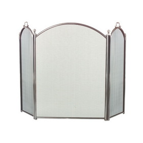 "Dagan Industries 7383-34 3 Fold 34"" High x 52"" Wide Arched Pewter Screen"