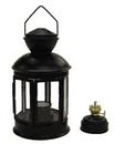 Candle / Oil Lantern - Flat Black