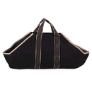 Black Canvas Tote Carrier W/Tan Handles