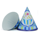 Aspire Party Cone Hats, Ice Cream Paper Hat, Blue And Pink, Party Favors