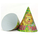 Aspire Paper Cone Hats, JUNGLE PARTY Forest Hat, Party Accessory