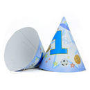 Aspire The First Birthday Paper Cone Hats, Great For Birthday Party, Sport Balls/ Princess Crown