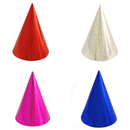 Aspire Metallic Cone Hats, Party Paper Hat, Mixed Colors