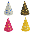 Aspire Happy Birthday Glittering Party Cone Hats, Paper Hat, Perfect For Birthday