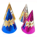 Aspire Gilding Party Cone Hats, Tinsel Paper Hat, Party Accessory