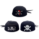 Aspire Black Pirate Scarf Hat, Polyester Head Wraps, Halloween Hat, Party Accessory