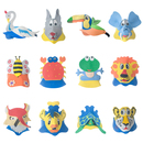 Aspire Dozen Foam Animal Sun Visors Party Hats Animal Costumes EVA Headwear Party Supplies