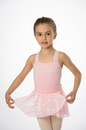 Prima Soft Children'S Leotards 910C 2 Piece Leotard And Skirt Ballet Shoe Embossed - Pink