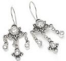 Painful Pleasures BAER021-pair Bali Clover Sterling Silver Earrings