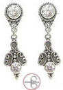 Painful Pleasures BAER024-pair Fleur de Bali Sterling Silver Fashion Earrings