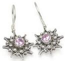 Painful Pleasures BAER045-pair Mystical Bali Star Sterling Silver Bali Earrings
