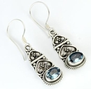 Painful Pleasures BAER059-pair Bali Drops - Indonesian Style Sterling Silver Earrings