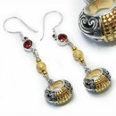 Painful Pleasures BAER095-pair Stunning Bali GOLD and Silver - Indonesian Earrings