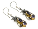 Painful Pleasures BAER100-pair Gold Plated, Sterling Silver Bali Flower & Tear Drop Earrings - Price Per 2
