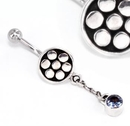 """Painful Pleasures BAN044 Simple Dangle Bali Belly Ring 14g 7/16"""" Body Piercing Jewelry"""