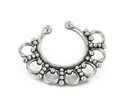 Painful Pleasures BAN120 Sterling Silver Detailed Septum Ring or Earring - Clip On