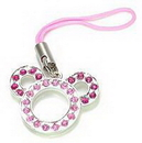 Painful Pleasures CEL026 PINK MOUSE EARS Wholesale Cell Phone Charms