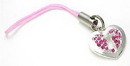 Painful Pleasures CEL033 PINK HEART KEY Wholesale Cell Phone Charms