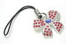 Painful Pleasures CEL034 Jeweled BOW Wholesale Cell Phone Charms