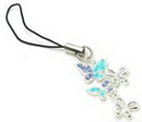 Painful Pleasures CEL043 Triple Butterfly Wholesale Jewelry for Cell Phone Charms