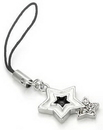 Painful Pleasures CEL058 WHITE/BLACK Star Wholesale Cell Phone Charms