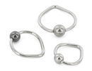 Unbreakable Custom-870-UB 16g Stainless Steel Tear Drop Captive Bead Ring - Custom Made - Price Per 1