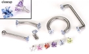 Painful Pleasures derm078 18g - 16g Internally Threaded Jewel Prong-Set Square Top - Price Per 1
