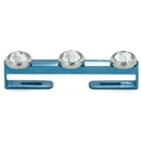 Painful Pleasures derm222-anod Surface Staple Flat Titanium Bar with 14g-12g Internally Threaded Holes - Price Per 1