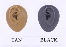 Left Ear - Silicone Display - Black Body Bit
