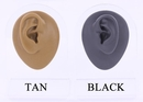 Painful Pleasures DIS-035 Silicone Plug Left Ear Display - Black Body Bit Version 1