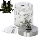 Petrify DIS-096-MED-243-Kit Glass Sundry Jar with Petrify - Ink Sponge with 75 - 2g Tea Bag