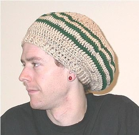 Large Tam For Dreadlocks -Black Or Earthtone Green