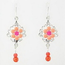Painful Pleasures EAR023 ORANGE FLOWER Drop Earrings