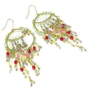 Painful Pleasures EAR039 Extra Dangles Antique Costume Beaded Earrings