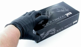 1 Box Of Black Dragon Zero Medical Nitrile Gloves - Body Piercing And Tattoo Artists Glove