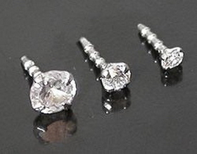 14Kt White Gold Bioplastic Prong Setting Cz In 1.5Mm, 2.0Mm Or 3.0Mm - Addon