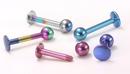 Painful Pleasures JL074-14gtitanium 14g Titanium Labret - 18 Color Choices