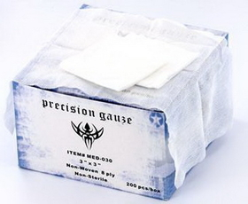 "Precision 3""X3"" Gauze - The Absolute Best Gauze Sponges - 200 Per Box"